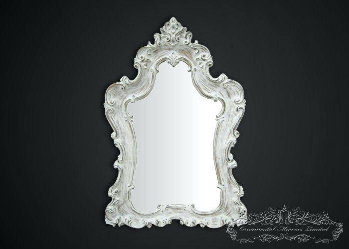 Large Green Mirror Mint Ornate Shabby Chic Cottage Big Mirrorlarge Throughout White Shabby Chic Mirrors (View 11 of 30)