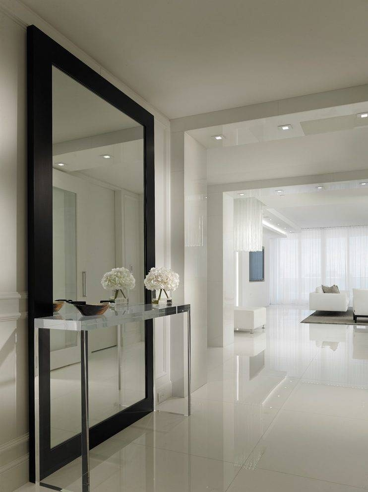 Large Hallway Ideas Hall Contemporary With Full Length Mirror In Large Hallway Mirrors (#24 of 30)