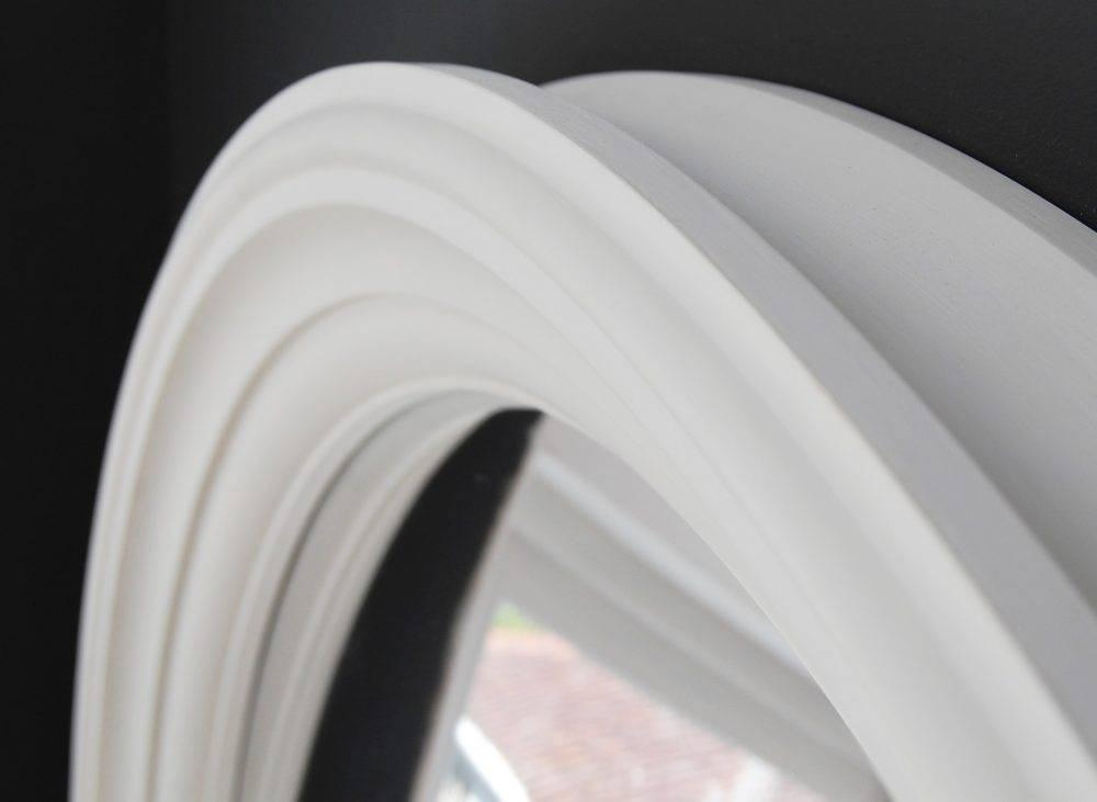 Large Lucca Convex Mirror | Omelo Decorative Convex Mirrors Omelo Regarding White Convex Mirrors (#17 of 30)