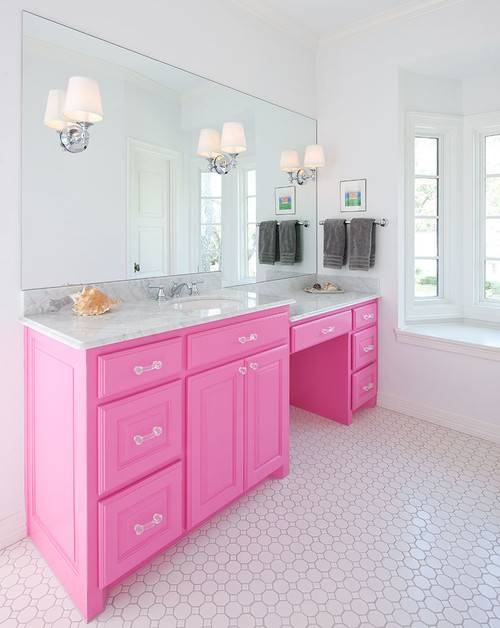 Large Mirrors In The Bathroom: 5 Inspirations Pertaining To Large Pink Mirrors (#22 of 30)
