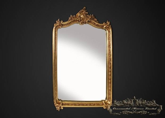 Large Mirrors, Large Decorative Mirrors In Antique Gold Mirrors French (#18 of 20)