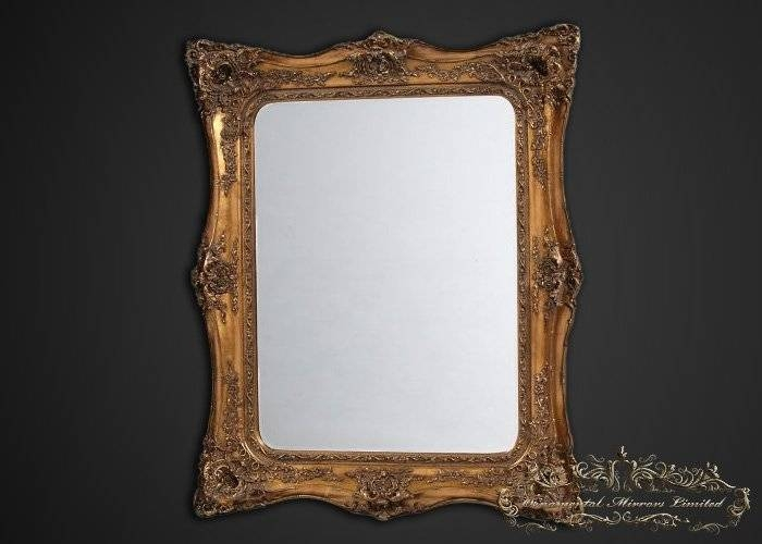 Large Mirrors, Large Decorative Mirrors Regarding Gold Rococo Mirrors (View 18 of 20)