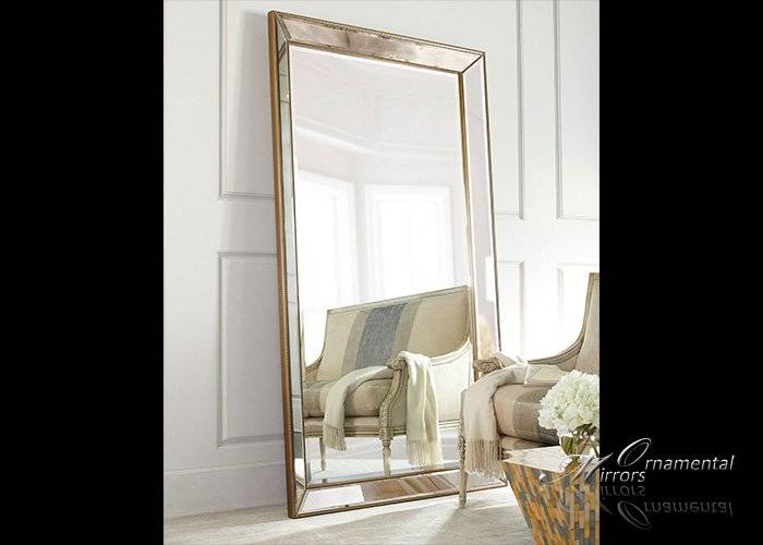 Large Mirrors, Leaner Mirrors And Floor Standing Mirrors Throughout Gold Standing Mirrors (#23 of 30)