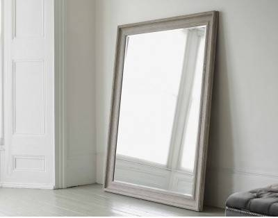 Large Mirrors: Vermont Oversized Mirror In Classic Vintage Grey Within Large Free Standing Mirrors (#18 of 20)