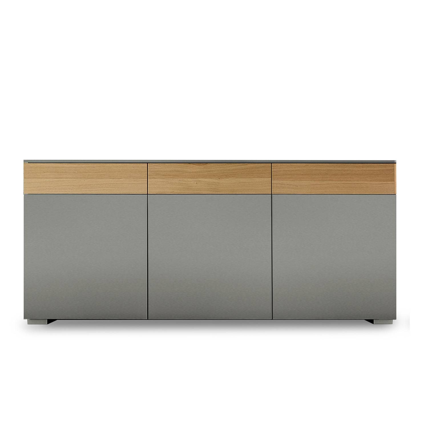 Large Modern Italian Sideboard, L 192 – W 48 – H 80 Cm + Feet At With Regard To Slim Sideboards (#12 of 20)