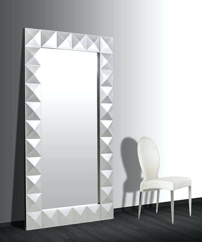 Large Modern Mirrors Uk White Mirror – Shopwiz Pertaining To Large Modern Mirrors (#12 of 20)