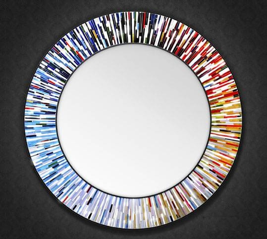 Large Mosai Glass Mirrors For Large Mosaic Mirrors (#15 of 30)