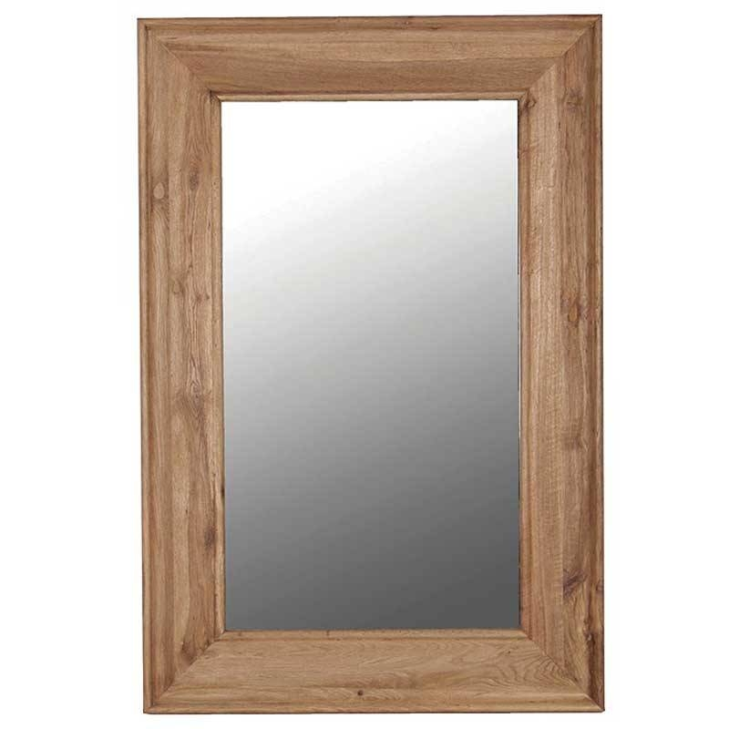 Large Oak Frame Mirror – Hydes Furniture & Interiors Intended For Rustic Oak Mirrors (#8 of 20)