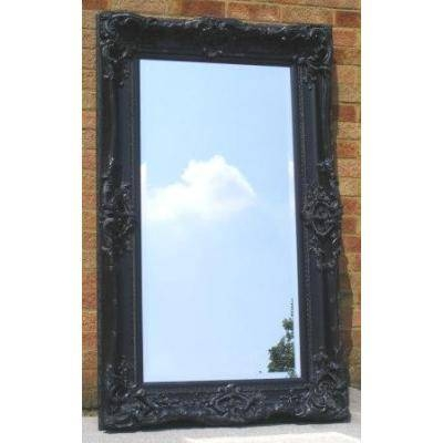 Large Ornate Black Monaco Mirror – Ayers & Graces Online Antique Inside Large Black Ornate Mirrors (View 27 of 30)