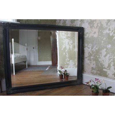 Large Ornate Classic Black Mirror – Ayers & Graces Online Antique For Large Black Ornate Mirrors (View 28 of 30)