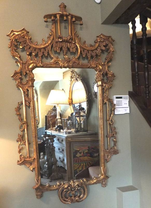 Large Ornate Gilt Mirror | Antique Mirrors Throughout Ornate Gilt Mirrors (#18 of 30)