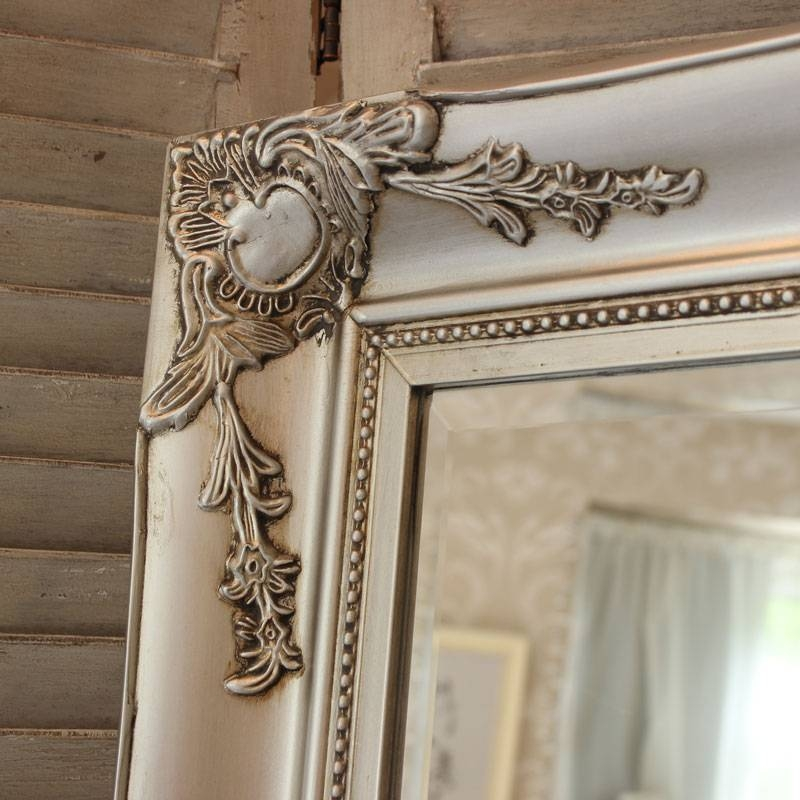 Large Ornate Silver Wall/floor Mirror – Melody Maison® For Ornate Floor Mirrors (#19 of 30)