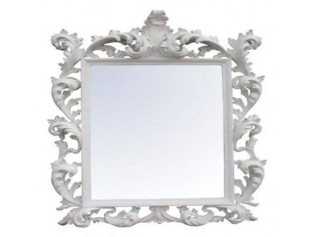 Large Oval Baroque Mirror Wall Acedf – Surripui Within Baroque White Mirrors (#12 of 20)