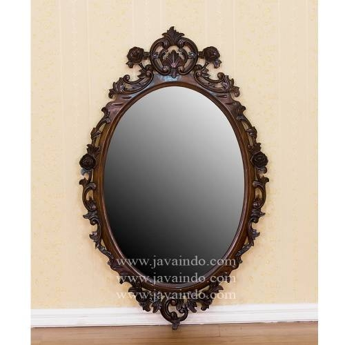 Large Oval Wall Mirror | Antique Wall Mirror | French Mirror Inside Large Oval Wall Mirrors (#21 of 30)