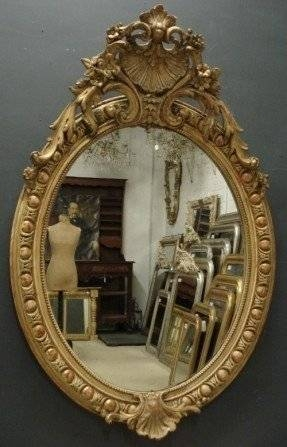 Inspiration about Large Oval Wall Mirror – Foter Intended For Oval French Mirrors (#23 of 30)