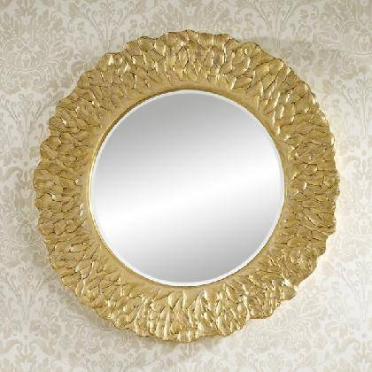 Large Oval/round Mirrors – Prints & Artwork – Wall Decor Uk – Wall With Gold Round Mirrors (View 17 of 20)