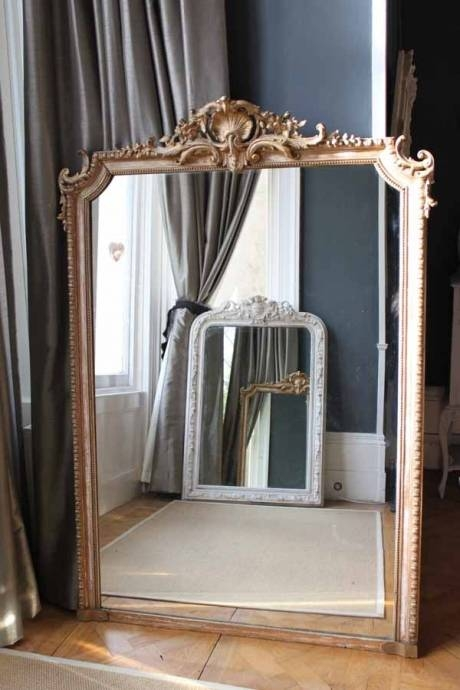 Large Over Mantle Mirrorthe Vintage Trader | Themintlist Inside Large Overmantle Mirrors (View 10 of 30)