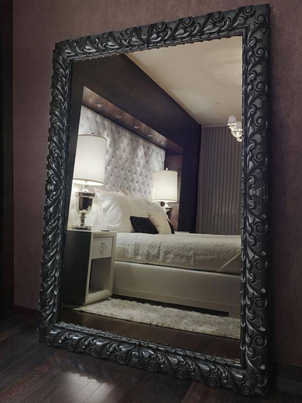 30 Ideas Of Black Floor Standing Mirrors