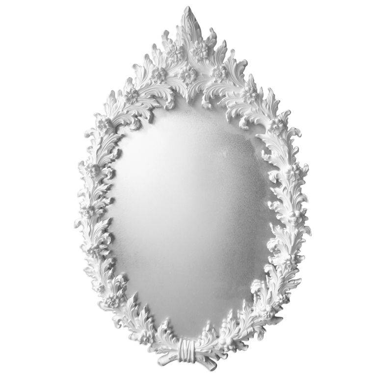 Large Polyester Plaster Mirror After Marc Bankowsky For Sale At In White Rococo Mirrors (#8 of 20)