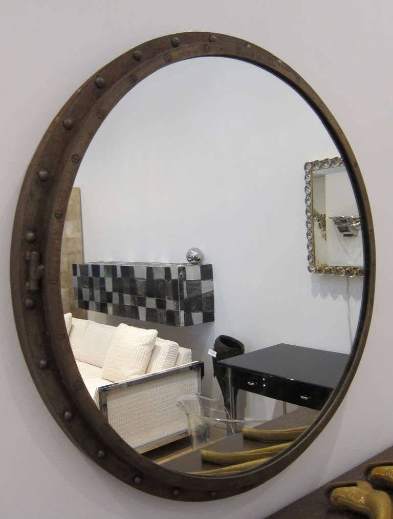 Large Porthole Mirror At 1Stdibs Within Porthole Mirrors (#14 of 30)