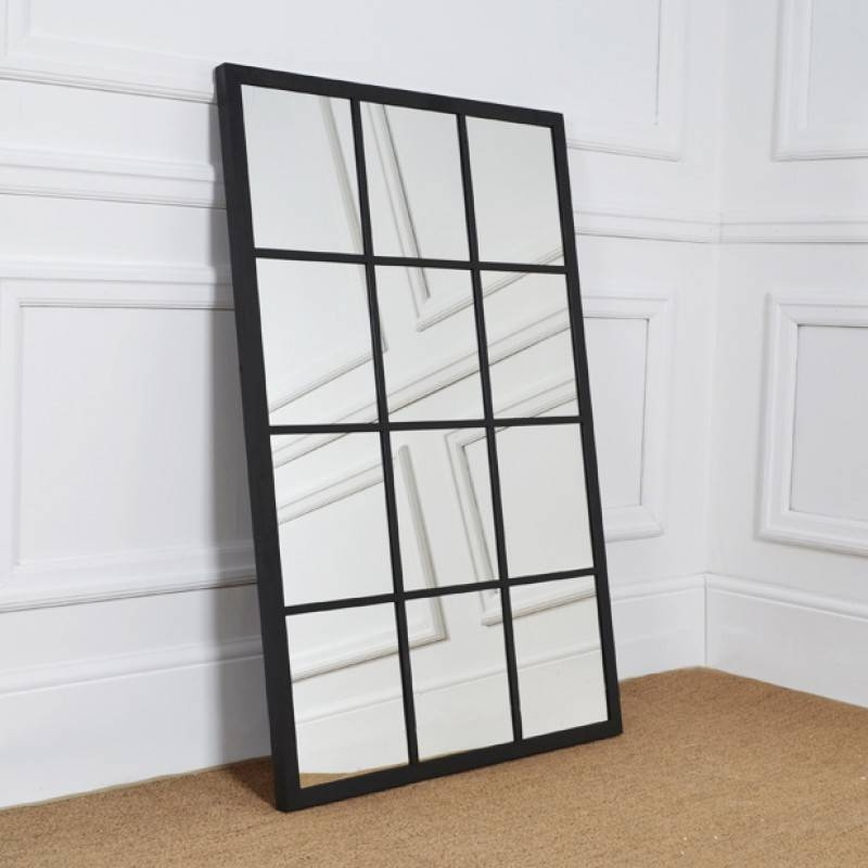 Large Rectangular Metal Framed Hoxton Sash Mirror (Mirrors) Pertaining To Large Metal Mirrors (View 22 of 30)