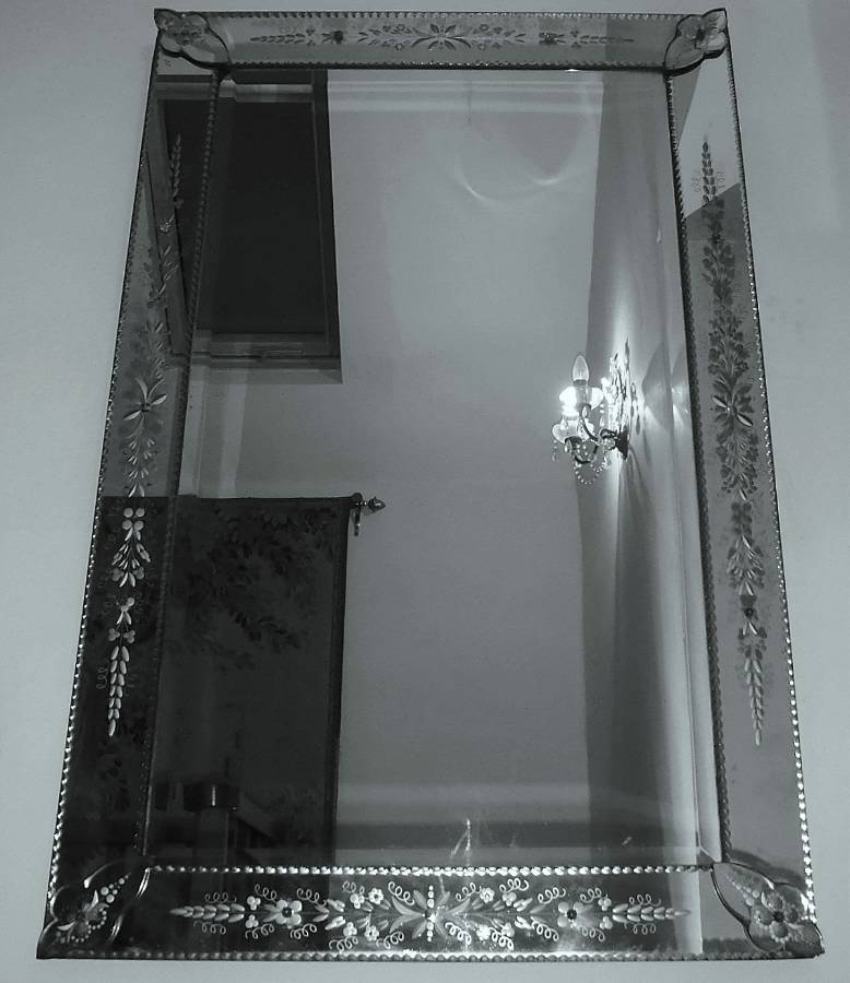 Large Rectangular Venetian Mirror In From On The Wall Antiques In Rectangular Venetian Mirrors (#6 of 30)