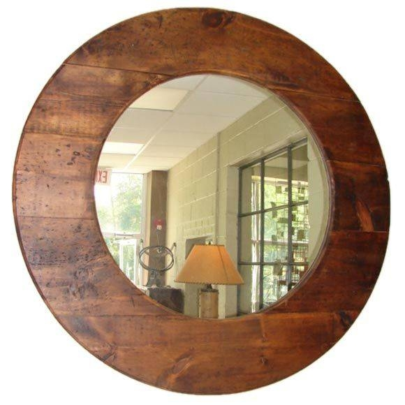Large Round Barn Wood Mirror At 1Stdibs With Large Circular Mirrors (#11 of 20)