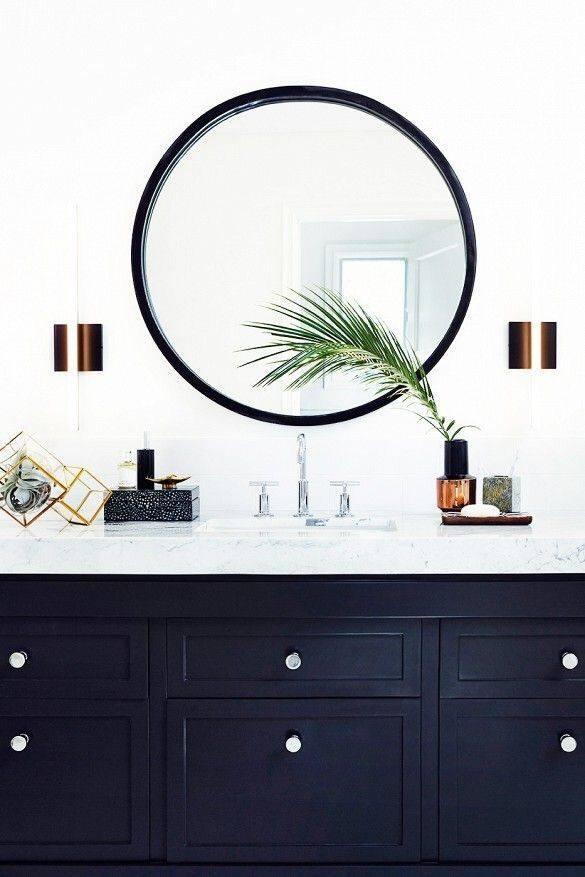 Large Round Bathroom Mirrors Mytechref Throughout Blue Round Mirrors (#19 of 30)