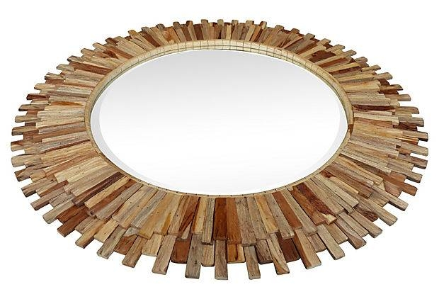 Large Round Cedar Sunburst Mirrors | Modernism Regarding Large Sunburst Mirrors (#12 of 20)