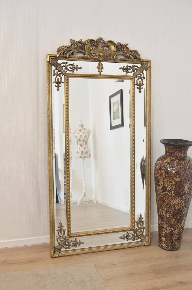 Large Round Gold Wall Mirror | Home Design Ideas Pertaining To Large Antique Wall Mirrors (#17 of 20)