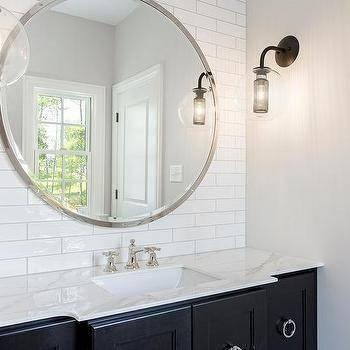 Large Round Metal Bathroom Mirror Design Ideas Regarding Large Round Metal Mirrors (View 16 of 30)