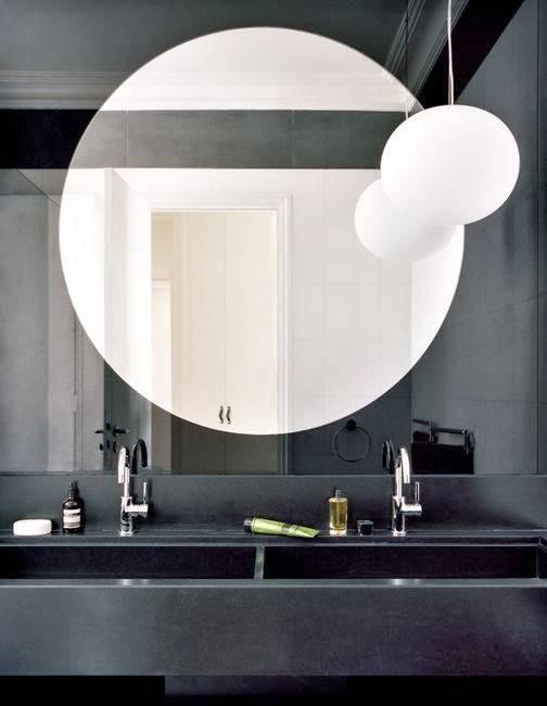 Large Round Mirror. Brownstone Townsend Large Round Mirror (View 22 of 30)