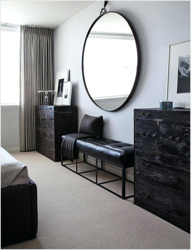 30 best collection of large round black mirrors for Big circle mirror