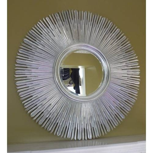 Large Round Mirror. Rustic Large Round Metal Mirror (#12 of 15)