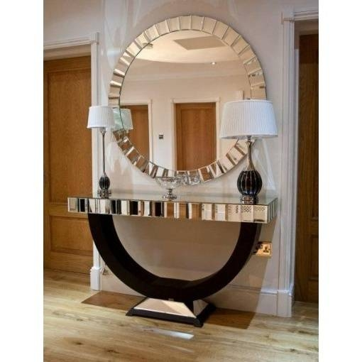 Large Round Mosaic Framed Wall Mirror Within Large Mosaic Mirrors (#17 of 30)