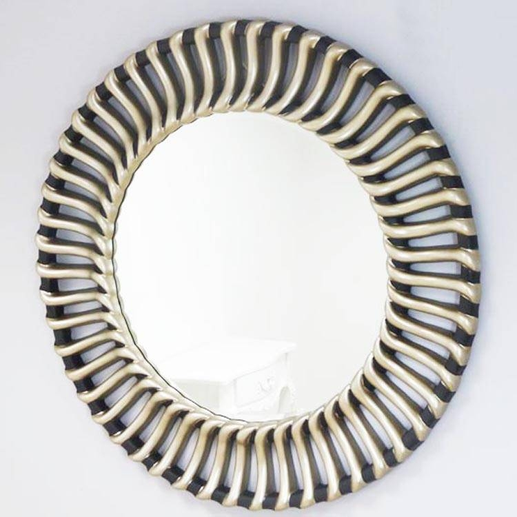 Large Round Silver Frame Wall Mirror 107Cm Large Round Wall Mirror With Regard To Large Round Black Mirrors (View 26 of 30)