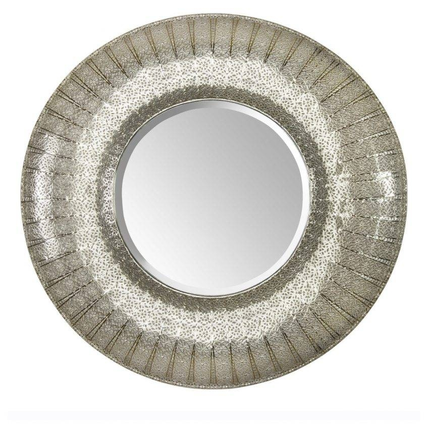 Large Round Silver Mirror 52 Fascinating Ideas On Round Moroccan Throughout Large Round Silver Mirrors (#15 of 30)