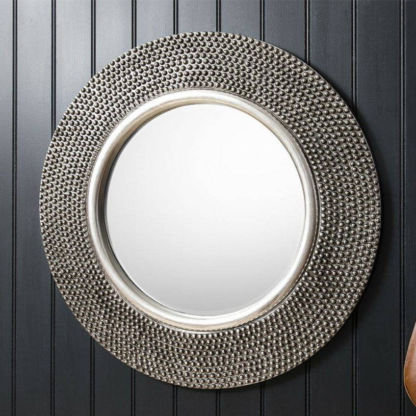 Large Round Silver Mirror 55 Trendy Interior Or Pewter Circular Throughout Large Pewter Mirrors (#14 of 20)