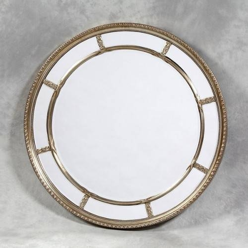 Large Round Silver Mirror With Regard To Large Round Silver Mirrors (#16 of 30)