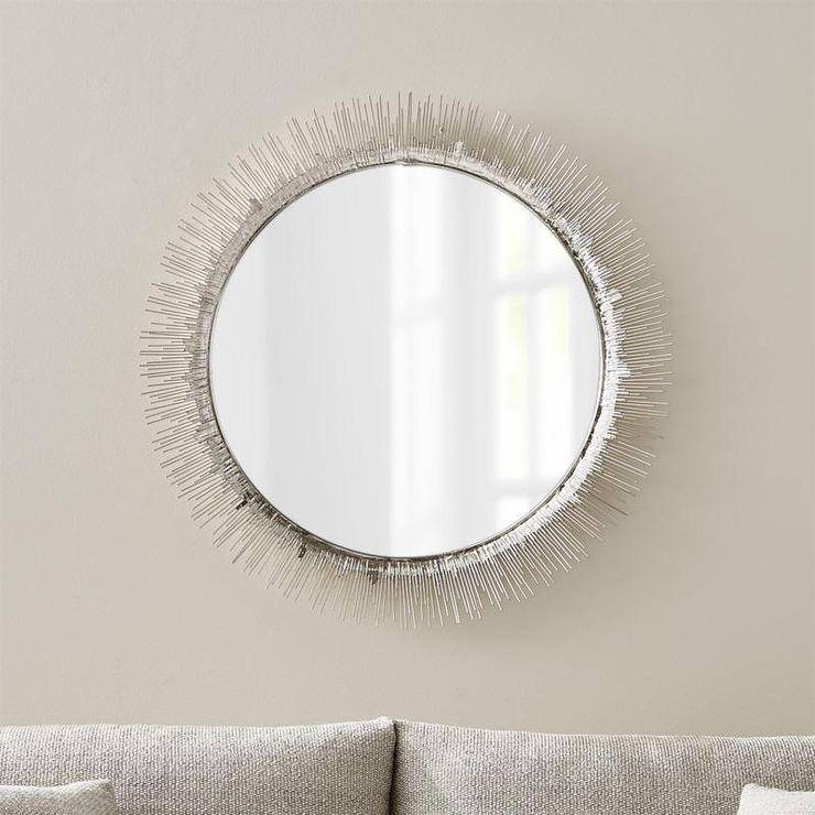 Large Round Silver Wall Mirror For Round Silver Mirrors (#20 of 30)