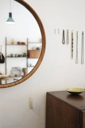 Large Round Wood Mirror – Foter Throughout Large Round Wooden Mirrors (#13 of 20)