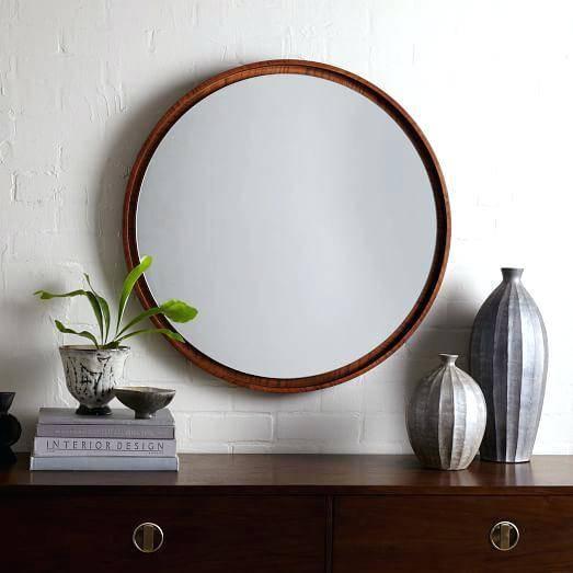 Large Round Wood Mirror – Shopwiz Within Large Round Wooden Mirrors (#14 of 20)