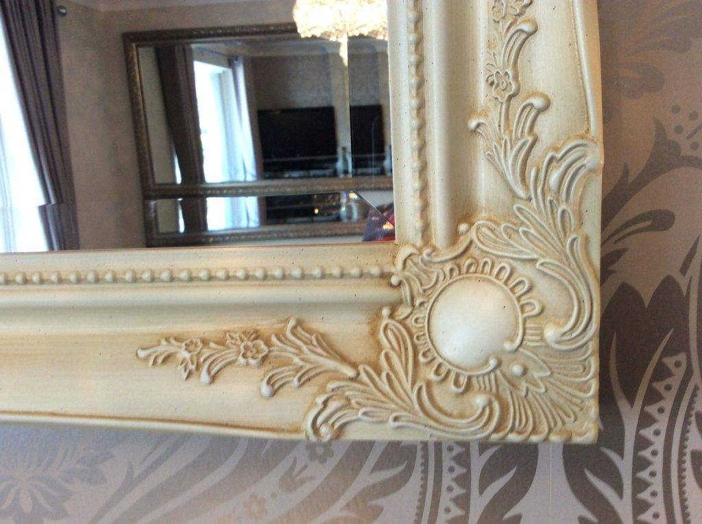 Large Shabby Chic Mirror – Shopwiz Intended For Cream Shabby Chic Mirrors (#22 of 30)