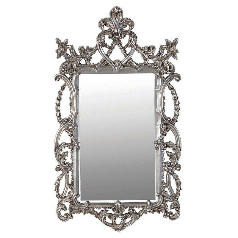 Large Silver Baroque Mirror In Silver Baroque Mirrors (#13 of 30)