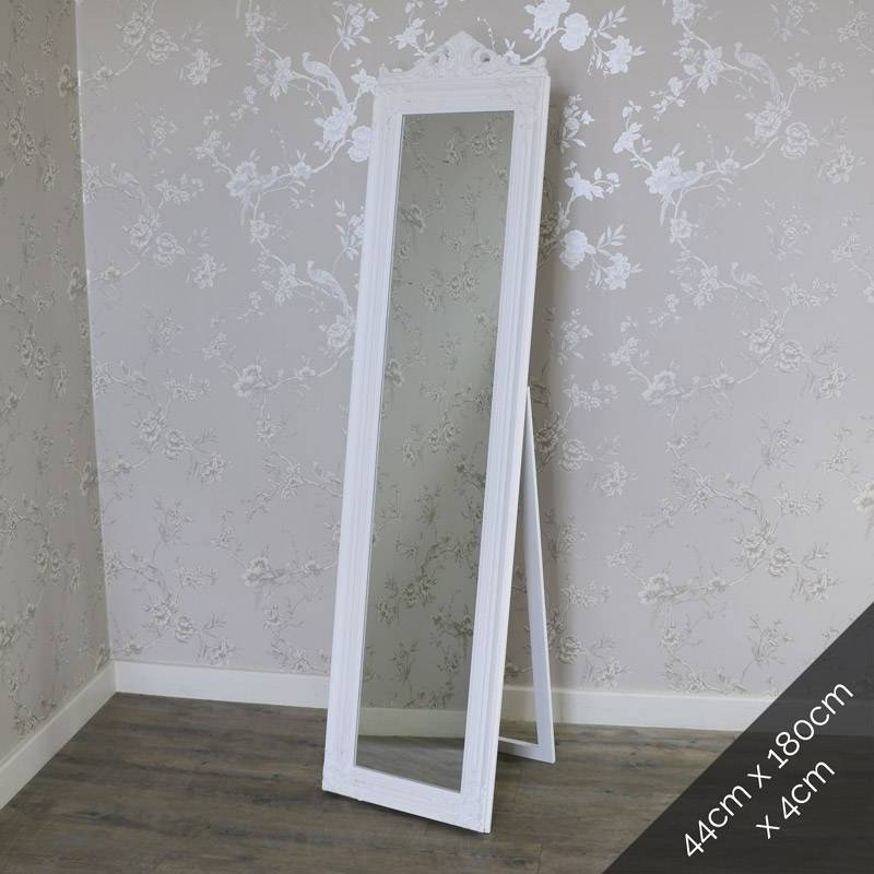 Inspiration about Large, Small, Floor, Vanity & Dressing Table Mirrors | Melody Maison® Inside Cream Free Standing Mirrors (#13 of 20)
