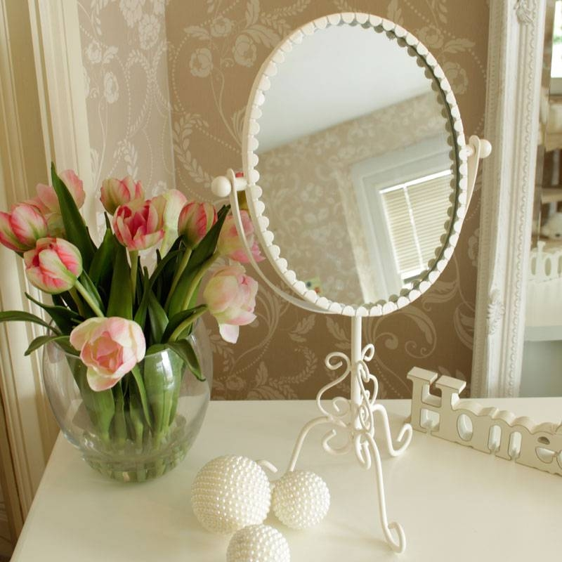 Large, Small, Floor, Vanity & Dressing Table Mirrors | Melody Maison® With Oval Cream Mirrors (#23 of 30)