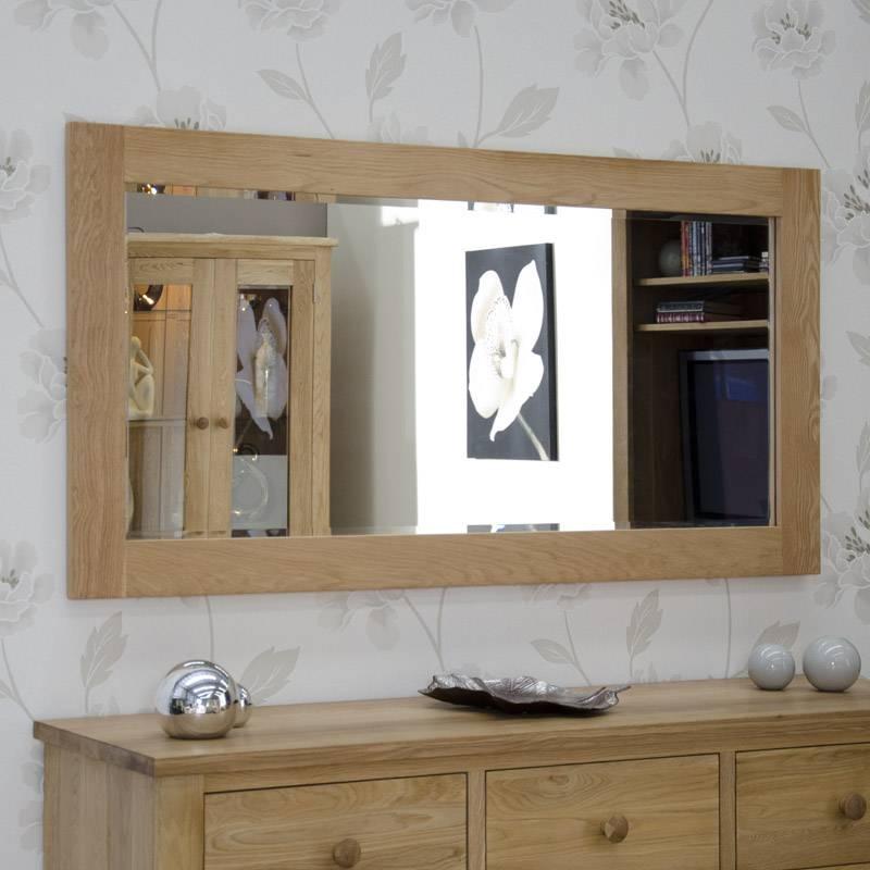 Popular Photo of Large Oak Framed Mirrors