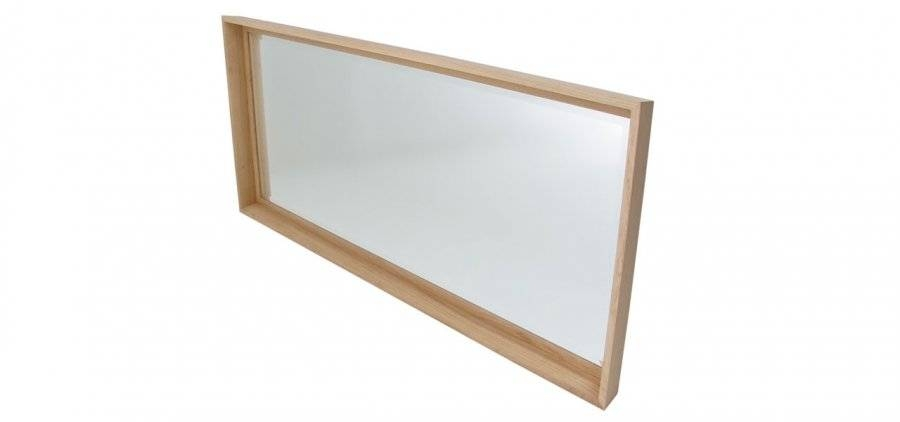 Large Solid Walnut Or Solid Oak Mirror Console Mirrors Within Large Oak Mirrors (View 18 of 20)