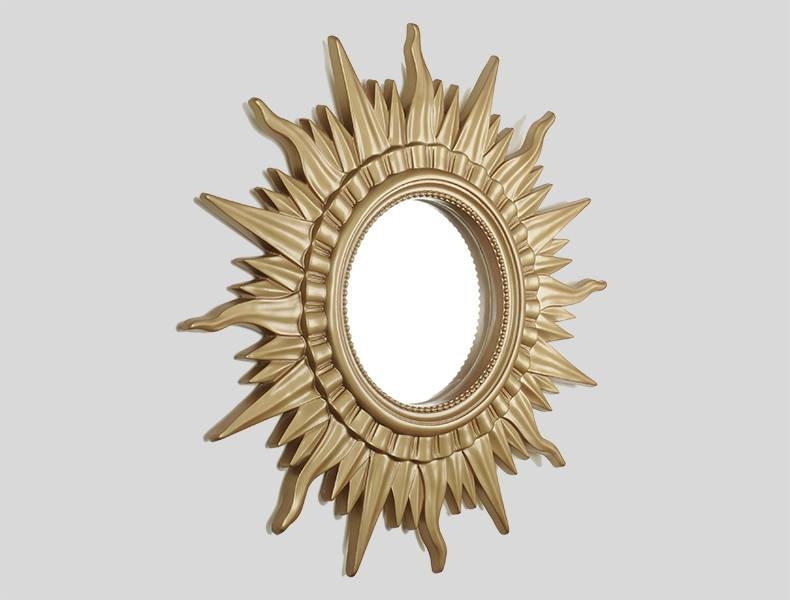 Large Sun Shaped Golden Wall Mirror – Buy Wall Mirror,large Wall Inside Large Sun Shaped Mirrors (#15 of 20)