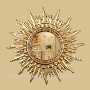 Large Sun Shaped Golden Wall Mirror – Buy Wall Mirror,large Wall Regarding Large Sun Shaped Mirrors (#16 of 20)